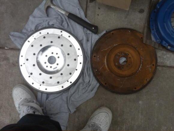 12 lbs spec flywheel - 22.5 lbs OEM lbs