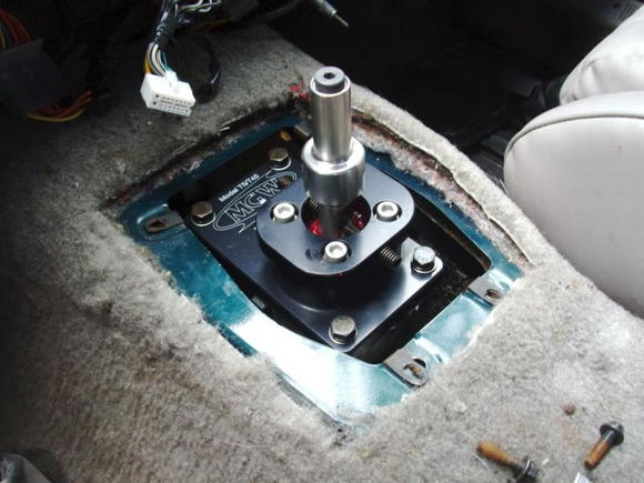 MGW short throw shifter on top of a brand new Tremec T-5