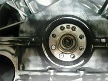 Bottom left 2 bolts sheared flush.