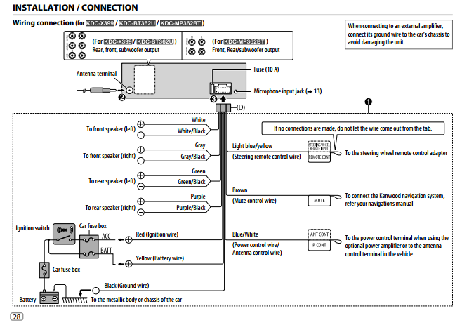 Kenwood Bt362u Wiring Diagram on jvc car stereo wiring diagrams
