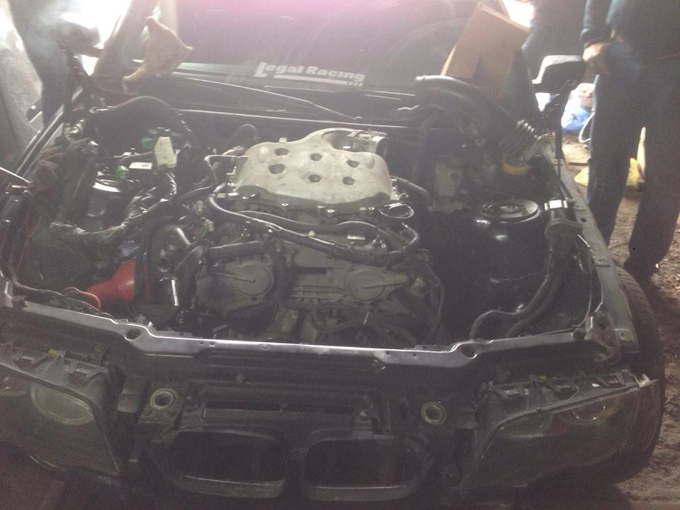 bmw swap vq35de please help me need a diagram of electricity Nissan S15 Engine