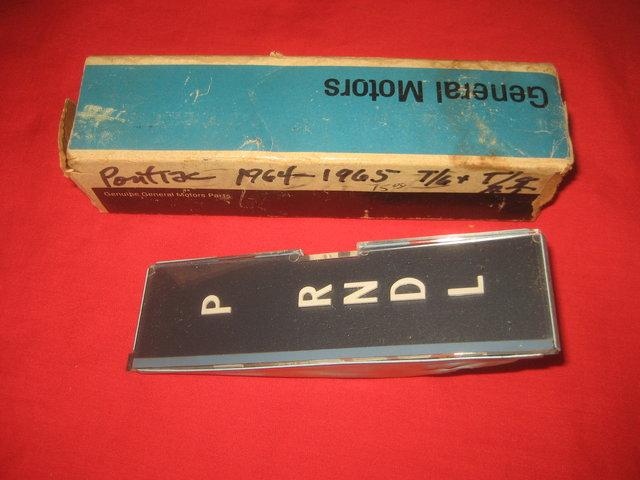 NOS 1964-66 Pontiac GTO Automatic Shift Indicator