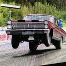 1965 Mercury Comet Caliente drag race, street strip
