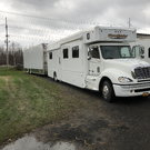 Freightliner Moterhome w/ Liftgate Custom Trailer
