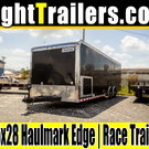 8.5x28 Haulmark Edge | Race Car Trailer