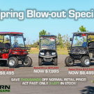 Blow-out Special! Brand new Bintelli Golf Carts