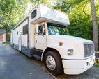 1999 Freightliner FL80 Fun Mover/Toy hauler (12' garage)  for sale $64,000