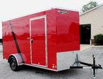 Show Demo 6x12 Cargo Trailer w/Alum Wheels