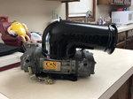 Blow thru procharger carburetor
