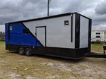 8.5x24TA Blue/Silver Racing Trailer