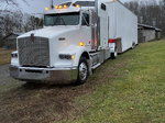 Kenworth T800 HDT Conversion with United Stacker Trailer