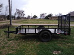 5x10 trailer with ramp gate