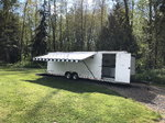 30' pace pursuit enclosed race trailer
