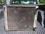 Vintage brass radiator