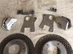 Aerospace spindle mount brakes