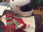 Helmet, gloves and balaclava