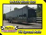 2019 Covered Wagon 8.5x28 7K Spread Axles Back in Black !!!!