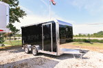14' Black ATC Quest Motorcycle Trailer -