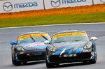 Pair of Porsche Cayman IMSA ST racecars