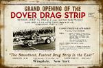 Dover Drag Strip Grand Opening Aluminum Sign