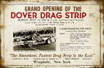 Dover Drag Strip Grand Opening Aluminum Sign  for sale $29.95