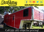 COMING SOON -8.5x44 INDIANA RACE TRAILER w LIVING QUATERS