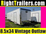 8.5x34 Vintage Outlaw   Race Car Trailer