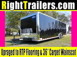 28' Black Continental Race Trailer - Hard Loaded - IN STOCK  for Sale