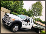 2012 FORD F550 XLT XCAB WITH LEATHER JERRDAN 19 FT ALUMINUM   for sale $49,000