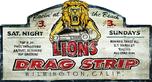 Lions Drag Strip Metal Sign  for sale $19.95