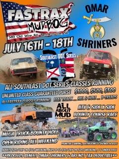 Fastrax Mudbog July 16th-18th