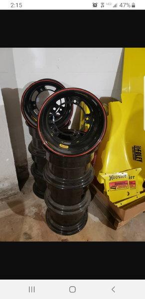 "8 New Bassett Racing Wheels - 15""x10""w/2""OS  for Sale $400"