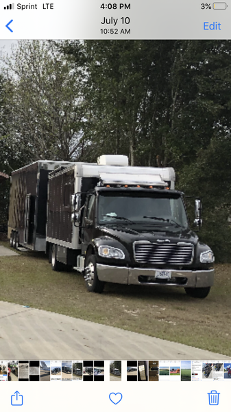 Freightliner 2009 and 24 ft stacker trailer   for Sale $56,000