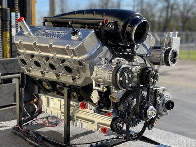 3,000 hp rated, R/T Twin Turbo Big Block Chevy Engine
