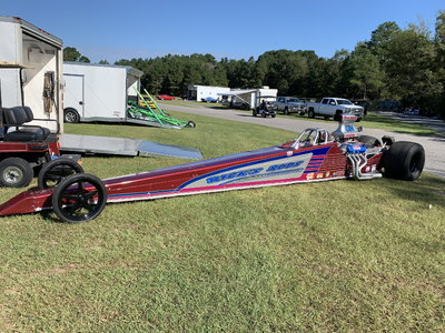 Mid 80's hard tail dragster