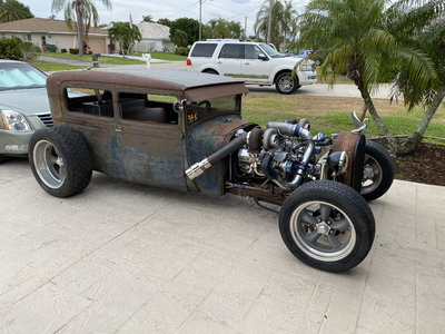 1928  RatRod Sedan twin turboed 355