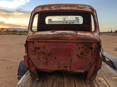 51-52 ford truck cab, doors ,hood two beds