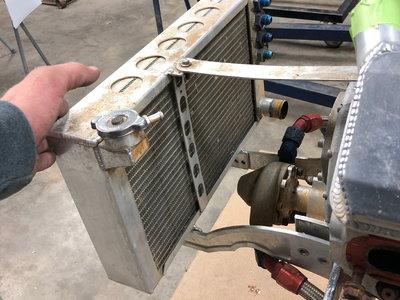 FSR sprint car front mount w/ radiator