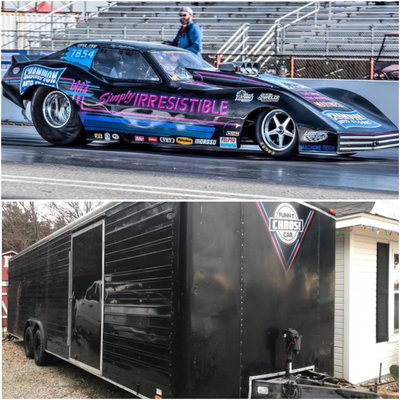 Turn Key BBC Nostalgia Funny Car & Trailer