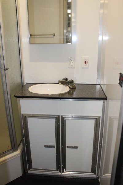 2021 48' Gooseneck Trailer with LARGE BATHROOM