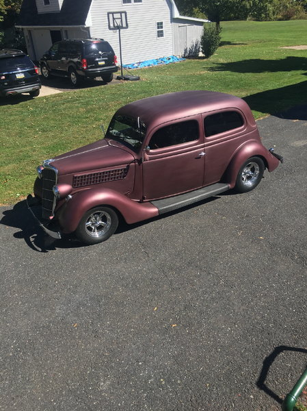 1935 ford all steel slant back