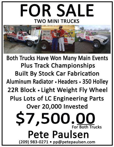 Two Mini Trucks  for Sale $7,500