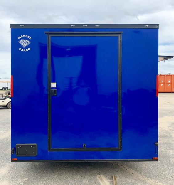 8.5x18TA Electric Blue Concession Trailer  for Sale $15,299