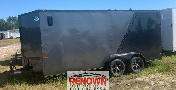 **NEW** 7X16TA Two-Tone BLACKOUT Enclosed Cargo Trailer  for Sale $7,899