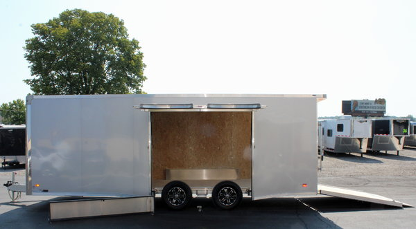 Wide Car? Removable Wheel Well Silver Ext. 22' Trailer