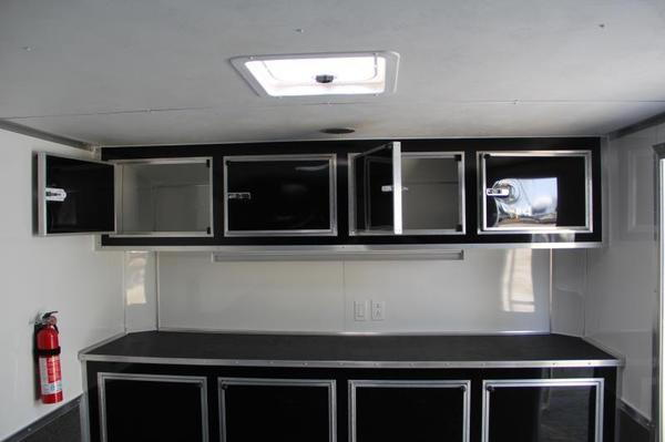 28' Black Continental Race Trailer - Hard Loaded - IN STOCK