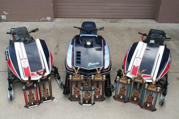 3 Vintage Race Sleds  for Sale $10,000