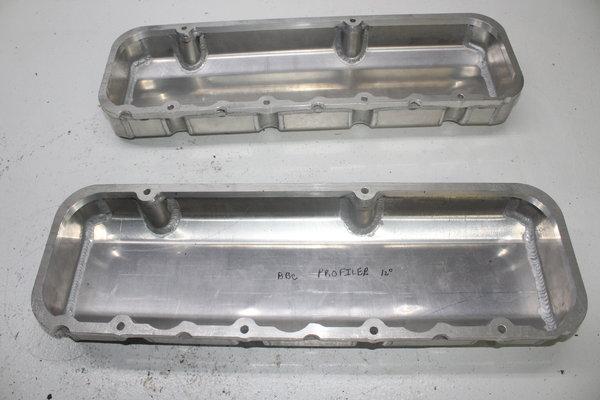 Fabricated Aluminum Valve Covers Big Block Chevy Profiler Bi  for Sale $250