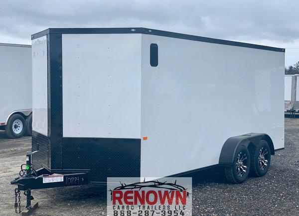 **NEW** 7x16 TA V-Nose Enclosed Cargo Trailer - BLACKOUT  for Sale $7,099
