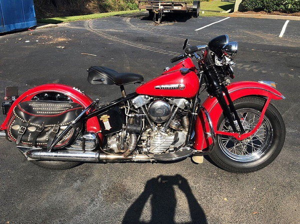 1947 Harley-Davidson FL KNUCKLEHEAD foot clutch hand shift B  for Sale $19,500